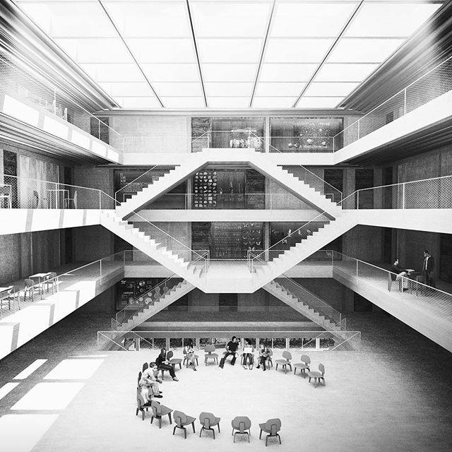 #atrium #school #zurich #lukasraeber #simple #structure
