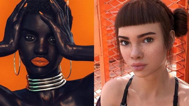 Shudu Gram is a digital model who rocks Fenty Beauty lipstick. Miquela Sousa is a computer-generated influencer who supports Black Lives Matter and advertises for Prada.  Instagram: @shudu.gram, @lilmiquela