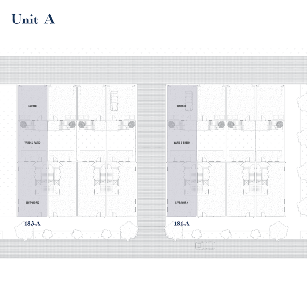 Unit A Site Plan | East Wilbur LiveWorks, Downtown Lake Mary