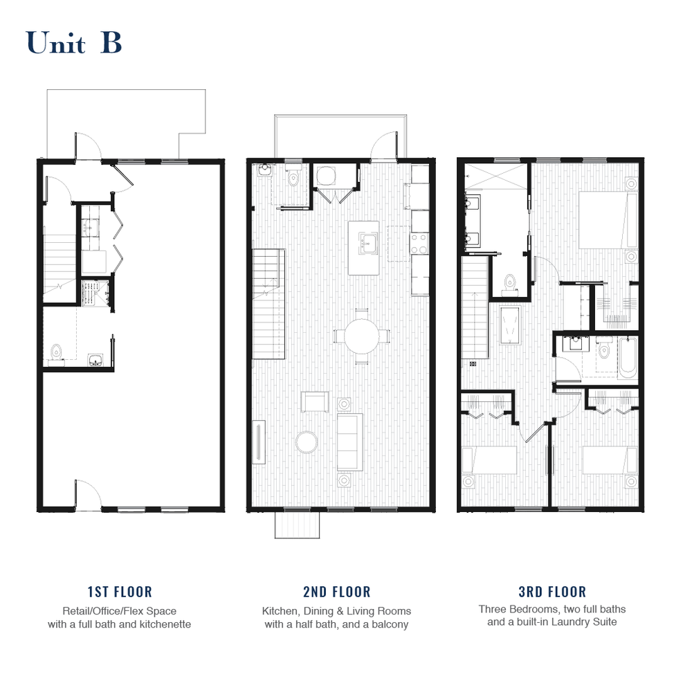 Unit B Floorplan | East Wilbur LiveWorks, Downtown Lake Mary