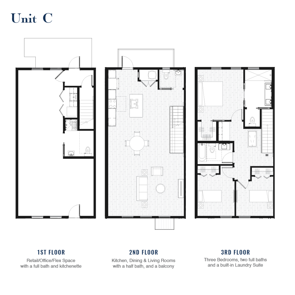 Unit C Floorplan | East Wilbur LiveWorks, Downtown Lake Mary