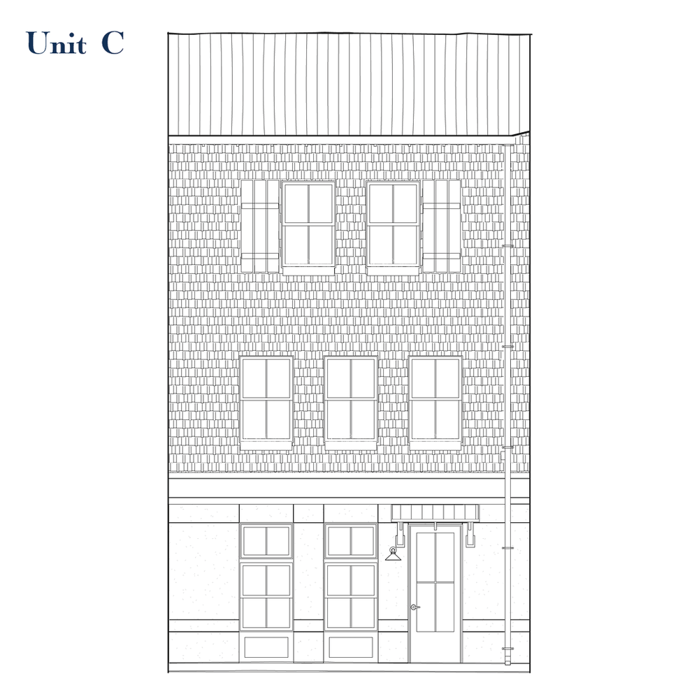 Unit C Front Elevation | East Wilbur LiveWorks, Downtown Lake Mary