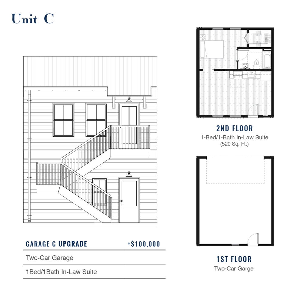 Unit C Premium Garage with ADU | East Wilbur LiveWorks, Downtown Lake Mary