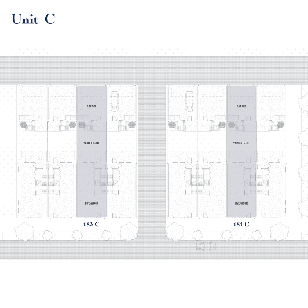 Unit C Site Plan | East Wilbur LiveWorks, Downtown Lake Mary
