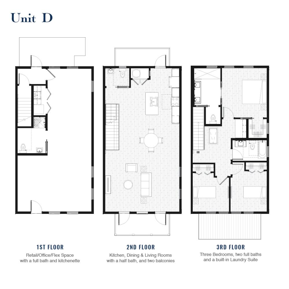 Unit D Floorplan | East Wilbur LiveWorks, Downtown Lake Mary