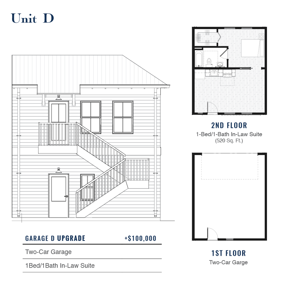 Unit D Premium Garage with ADU | East Wilbur LiveWorks, Downtown Lake Mary