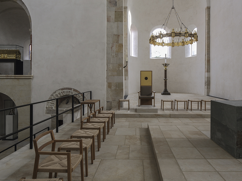 Priest's chairs at the alter