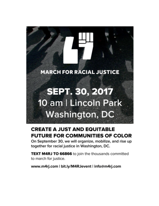 Please download the March for Racial Justice press kit. PDF 482k