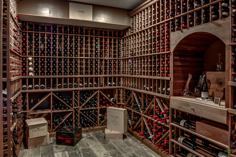 Wine storage interior design in Northern Virginia