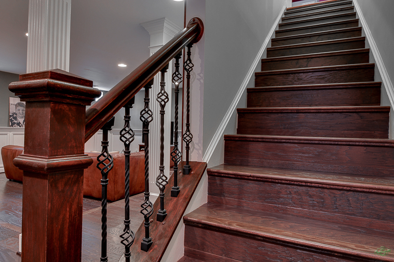 Wooden staircase design in Northern Virginia