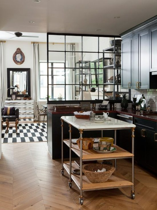 Nate Berkus' Personal Kitchen /living room