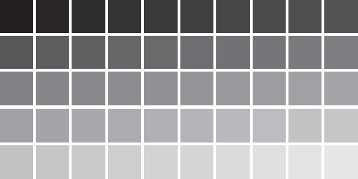 Here are Fifty Shades of Gray: Paint colors. Are you seeing the BLAH here yet?