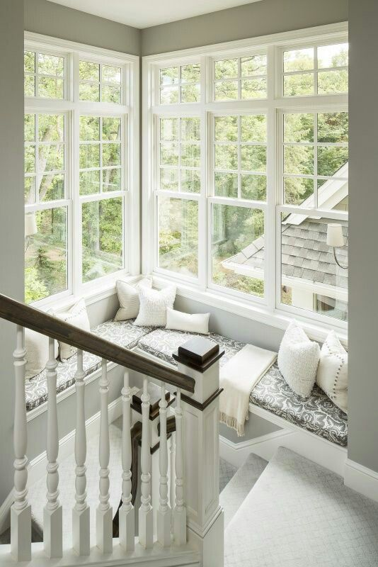 This popular pin on Pinterest speaks volumes about comfort and a pretty view!   By  Martha O'Hare Interiors