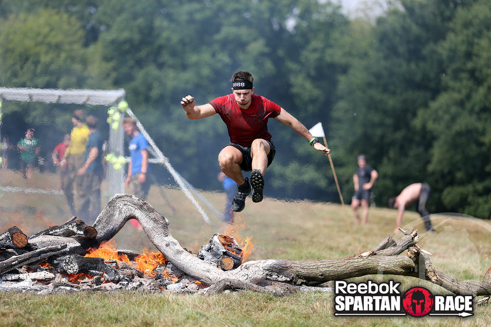 Dan, a personal trainer in Frome, completes a Spartan Race.
