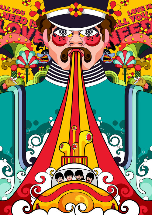 Yellow Submarine Laura Greenan Illustration
