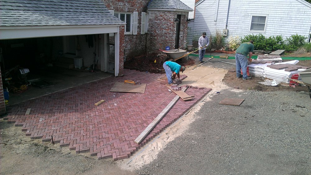 Brick Paver Driveway in Progress
