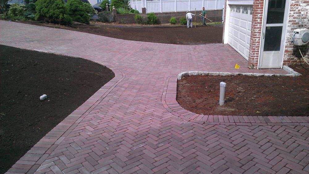 Brick Paver Sidewalk Completed