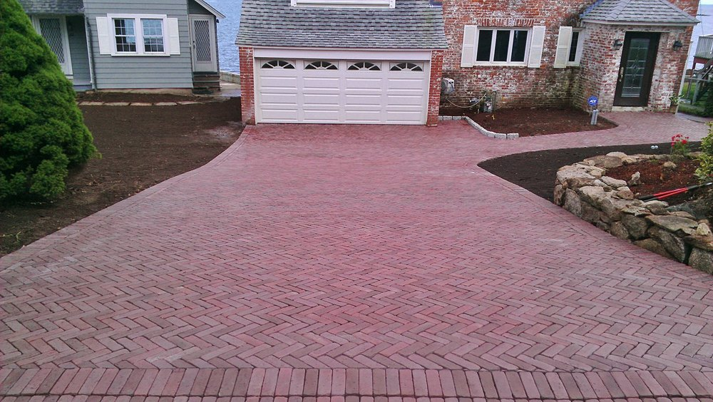 Brick Paver Driveway Completed