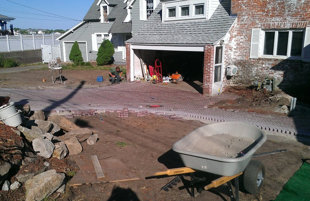 Brick Pavers in Progress