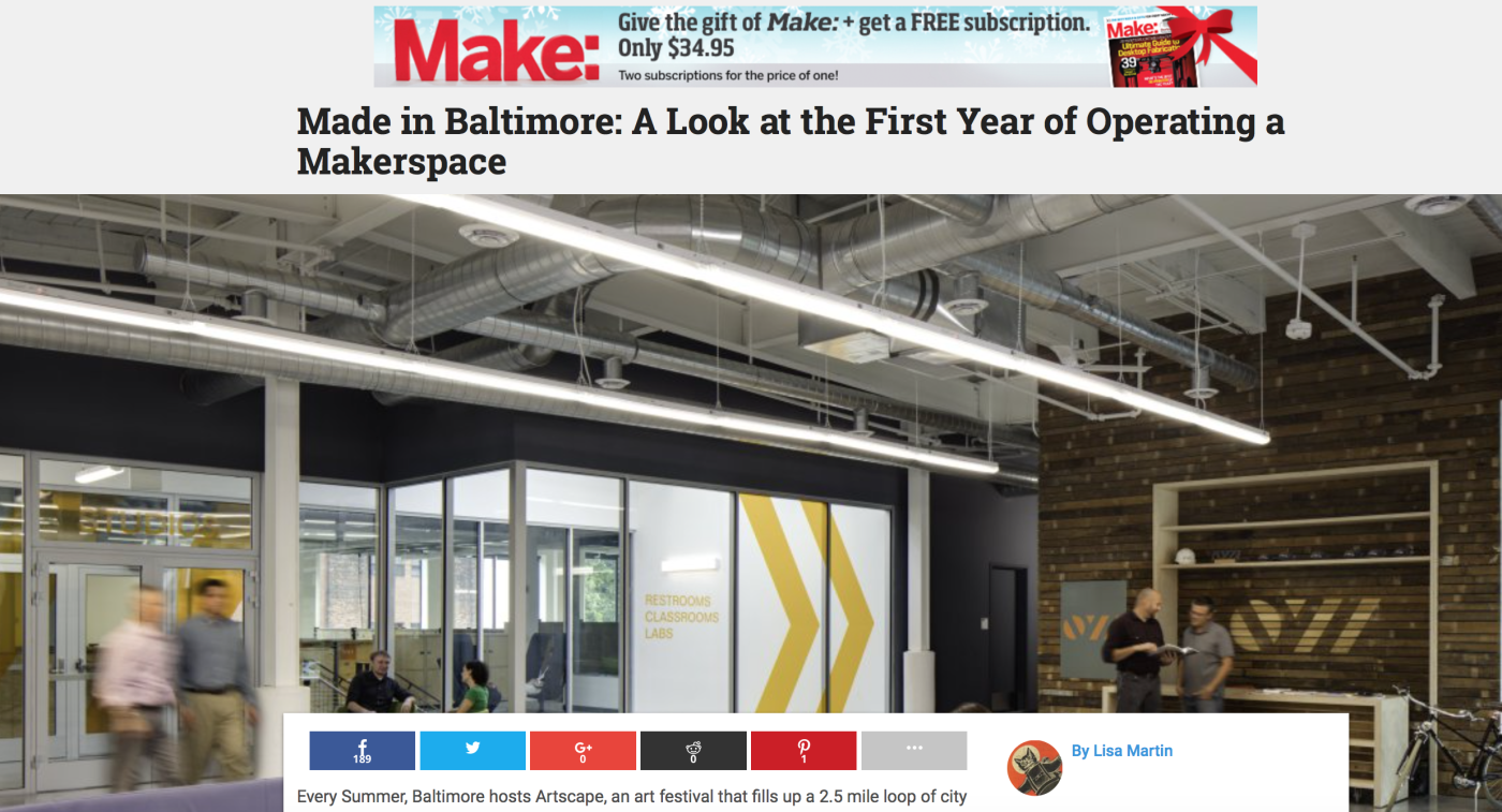 Made in Baltimore: Open Works featured by Make: Magazine