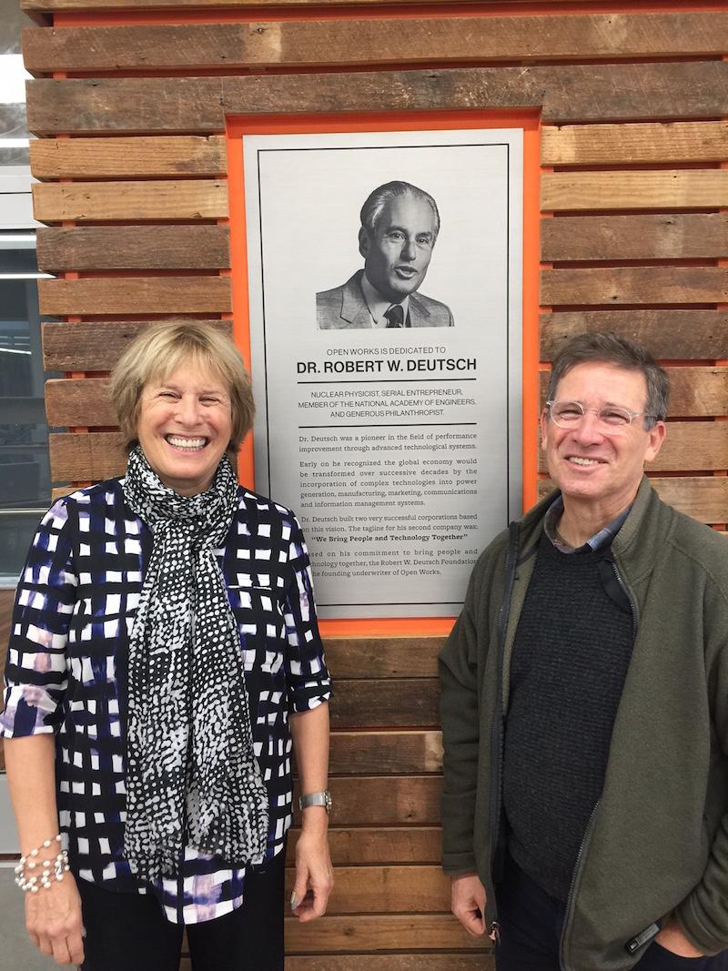 Dedication at Open Works — Robert W  Deutsch Foundation