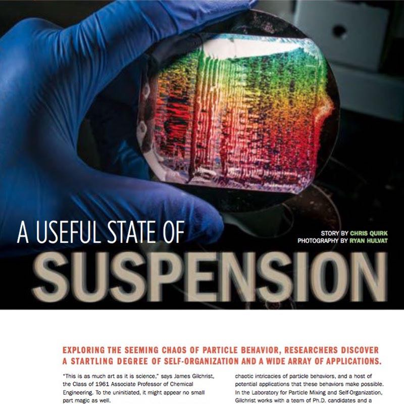 A Useful State of Suspension ,  Resolve  (Lehigh University). The quasi-magical self-organizational qualities of nanoparticles and their applications.