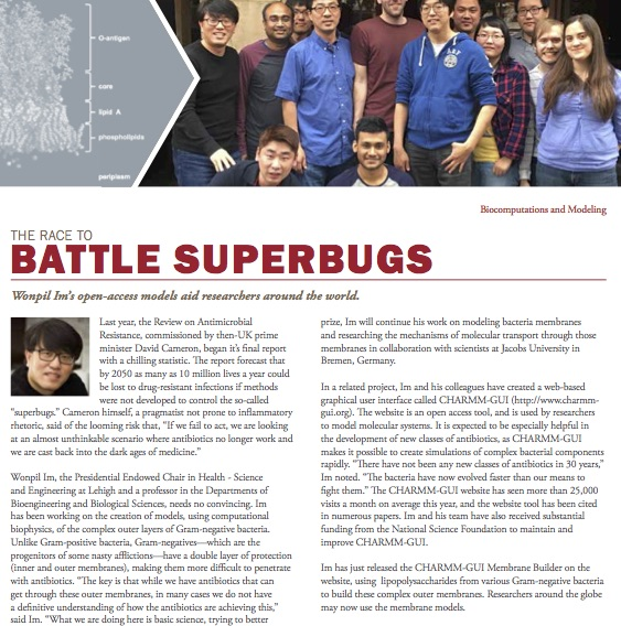 The Race to Battle Superbugs ,  Bioengineering Newsletter  (Lehigh University). Last year, the Review on Antimicrobial Resistance, commissioned by then-UK prime minister David Cameron, began it's final report with a chilling statistic…