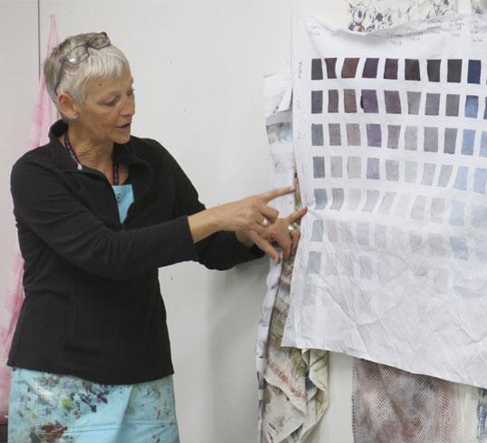 Claire Benn, textile artist, teaching in Germany.jpg