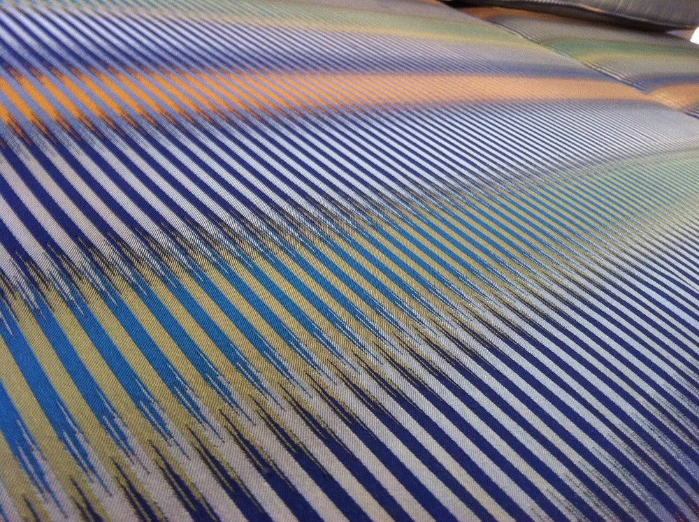 Ptolemy Mann, Detail of woven cloth