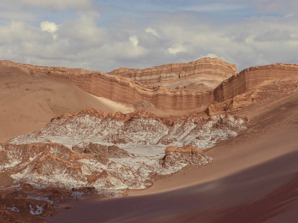The raw earth of the Atacama Desert
