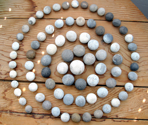 A spiral of stones by Jim Ede (Image; Kettles Yard)