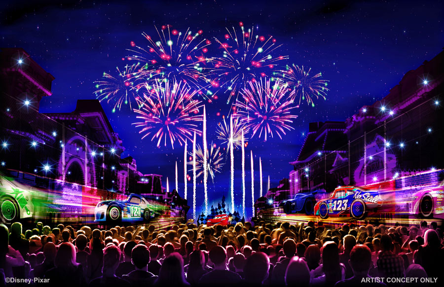 Together Forever – a Pixar Nighttime Spectacular concept; courtesy  Disney Parks Blog