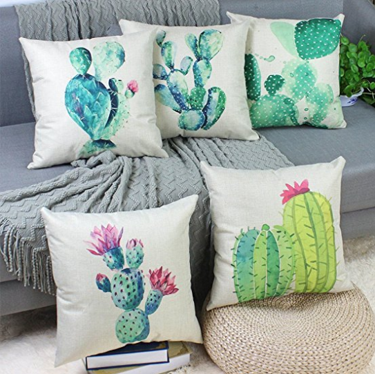 Throw pillows; courtesy Amazon.com