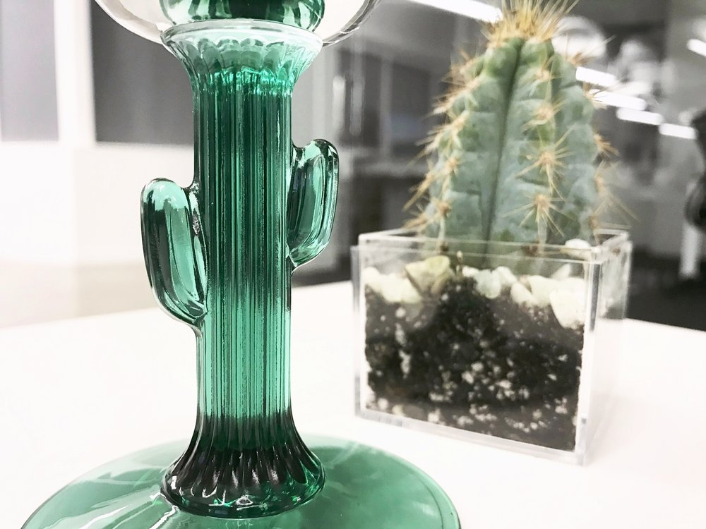 Margarita glass cactus stem