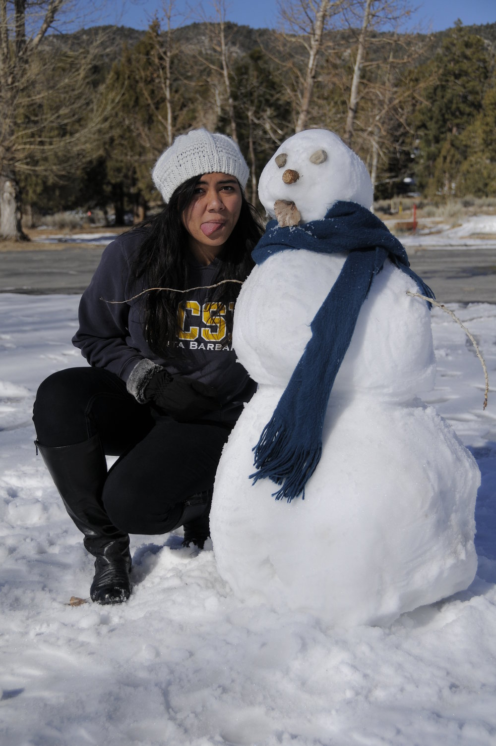 Me and my snowman during winter :P