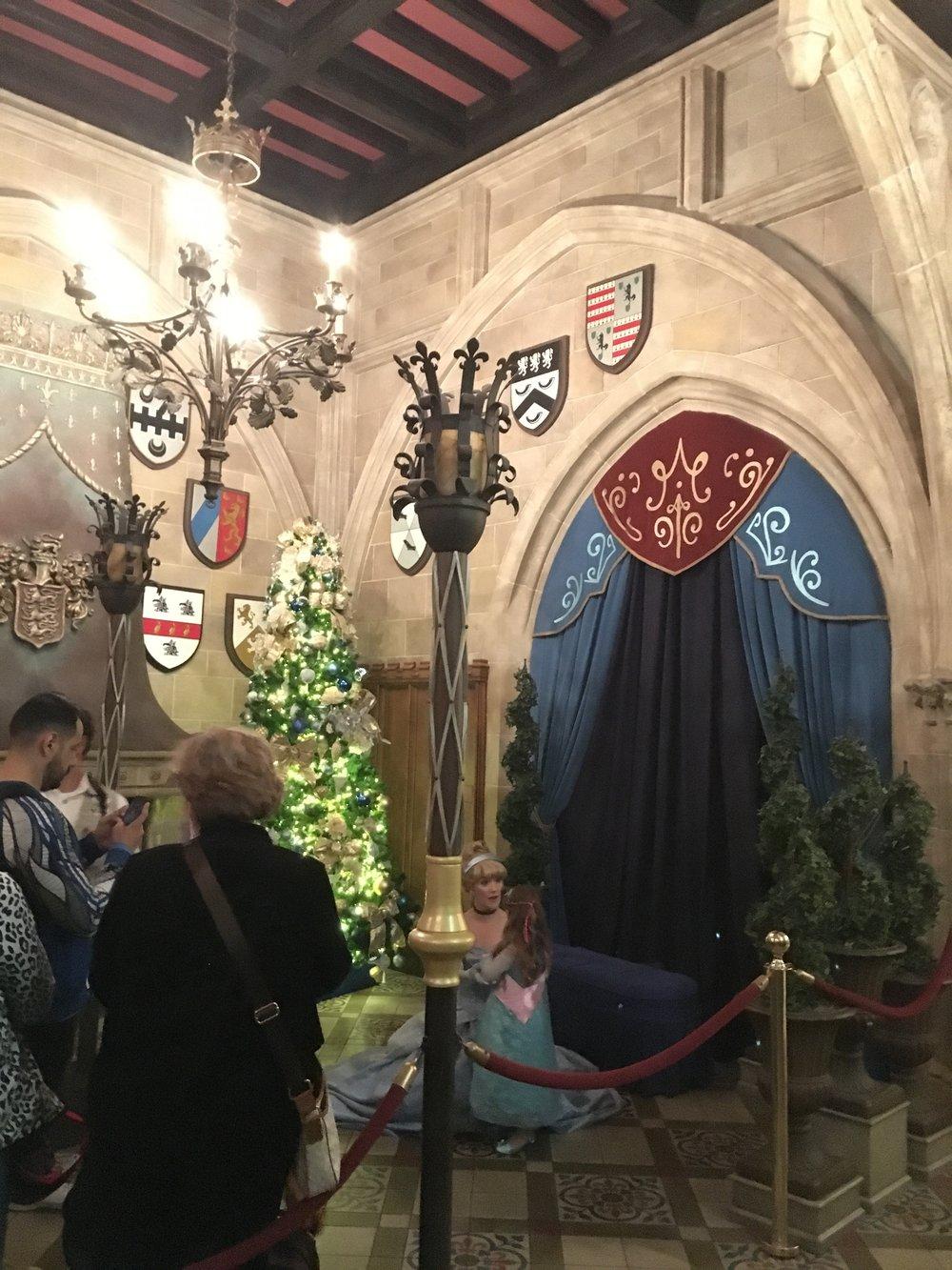 Cinderella greeting guests