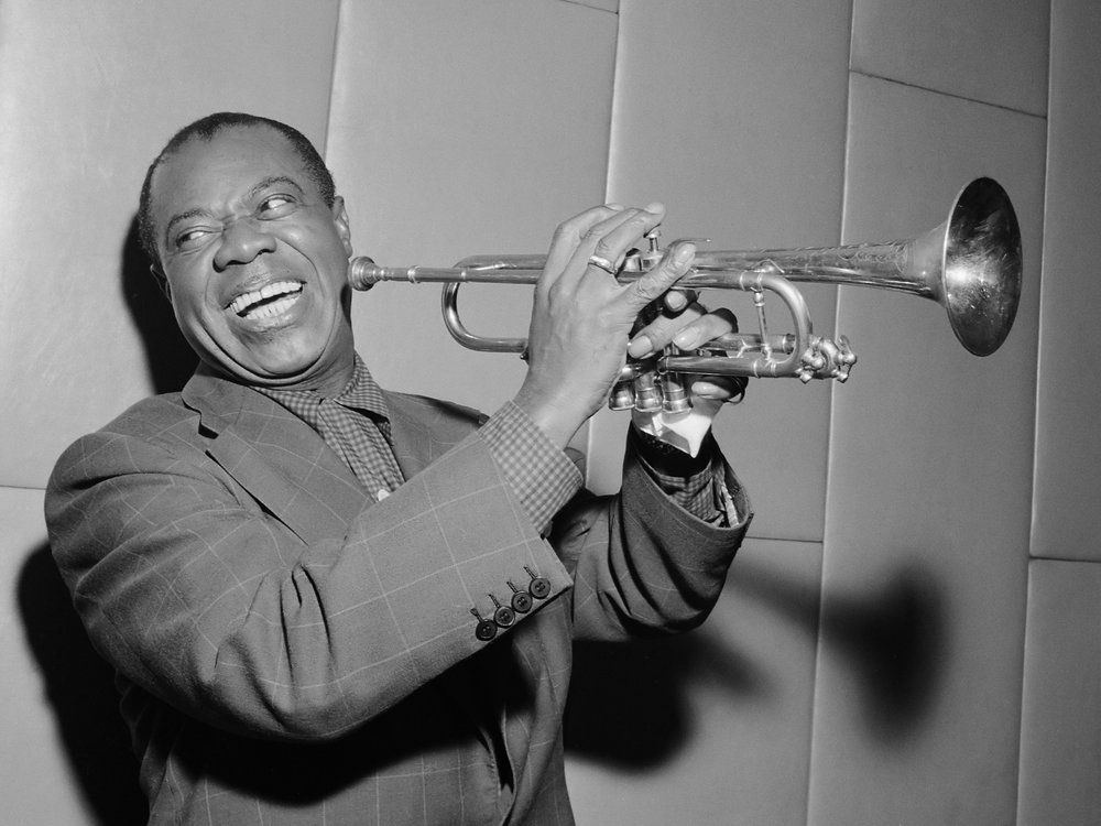 Louis Armstrong;  Image  via