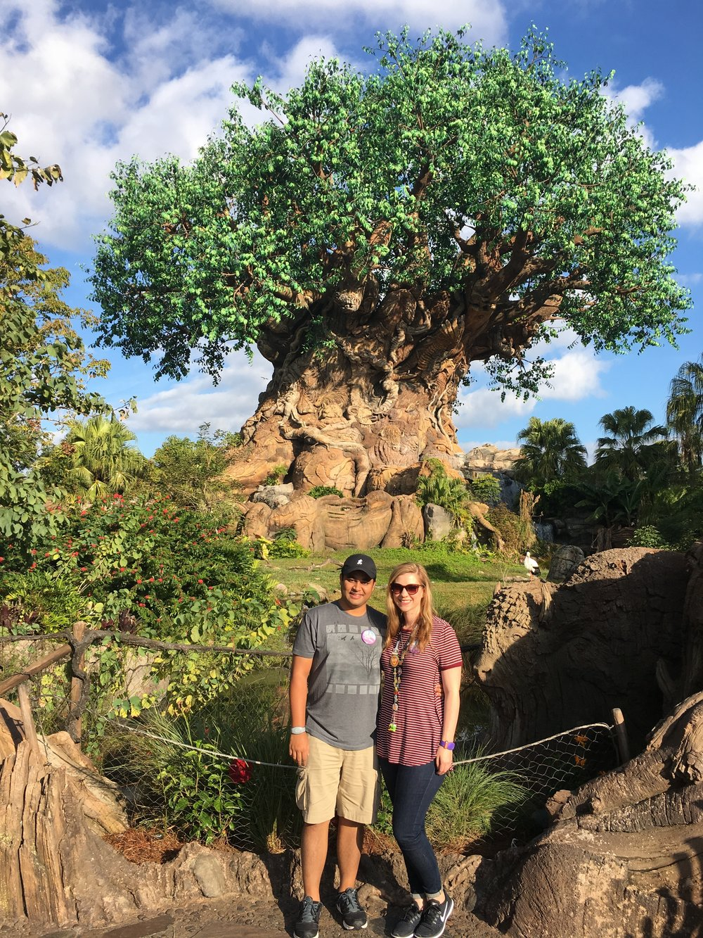 Zach and I in front of the Tree of Life