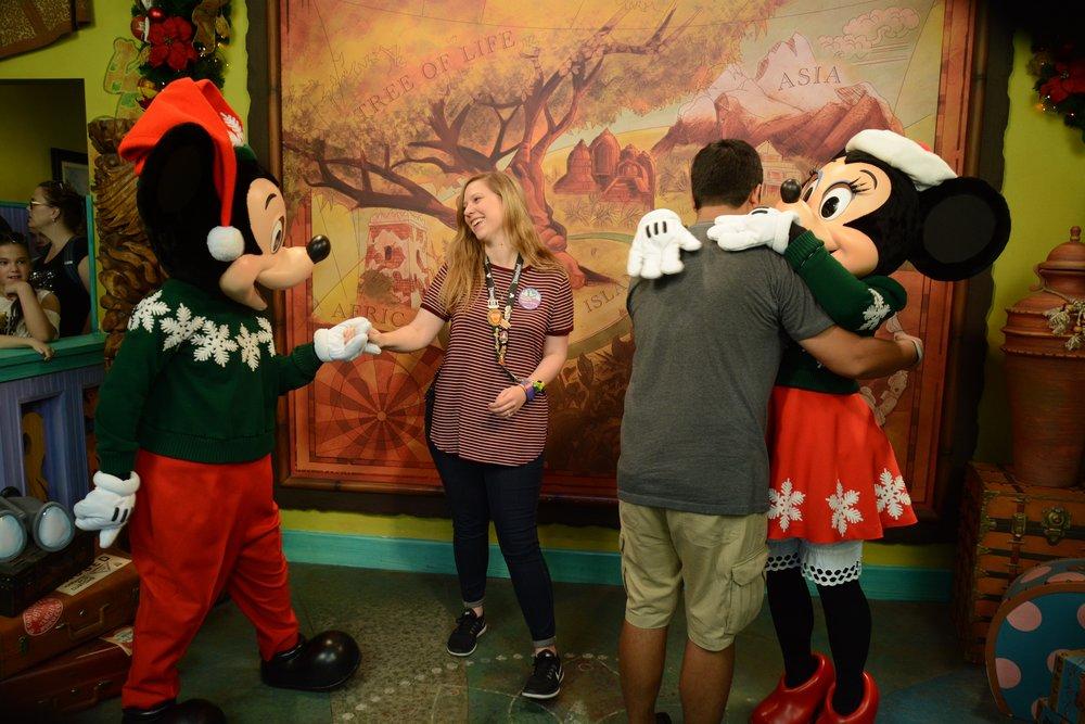 Pure joy as I meet Mickey