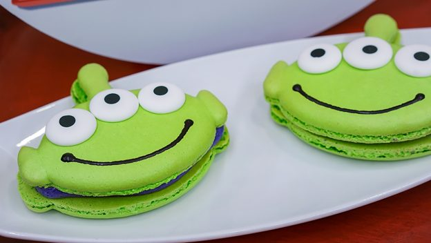 Toy Story  alien macarons;   Image  via