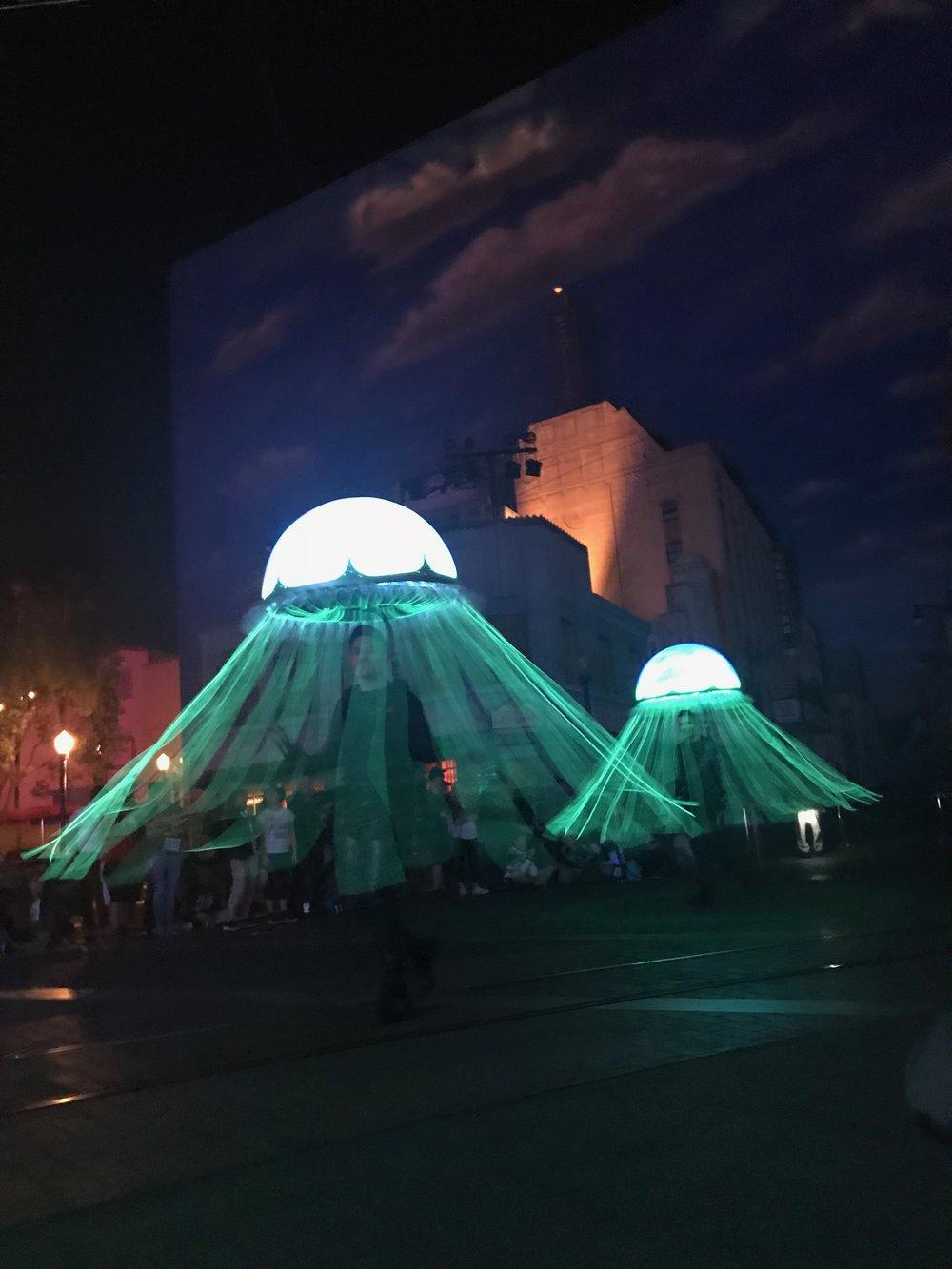 The spinning jellyfish umbrellas!