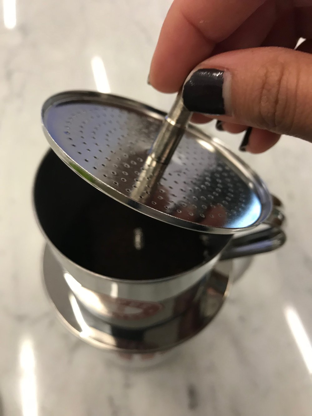 The Monday Muse Vietnamese Style Coffee Smoosh Life Filter Kopi However After You Pack It Down Should Unscrew Your 1 2 Turns To Leave A Bit Of Room Since Will Expand When Gets Wet