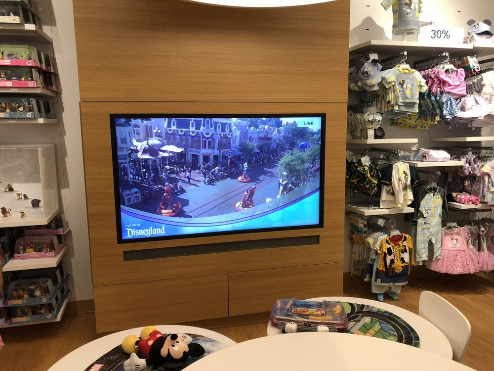 Parade streaming in kids area