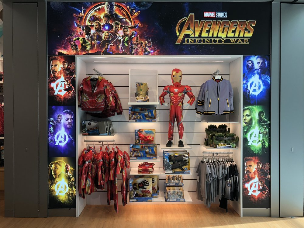 Avengers display right after Infinity War came out!