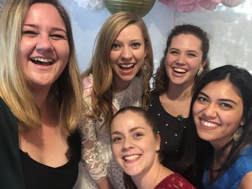 Some of my fave ladies at my bridal shower