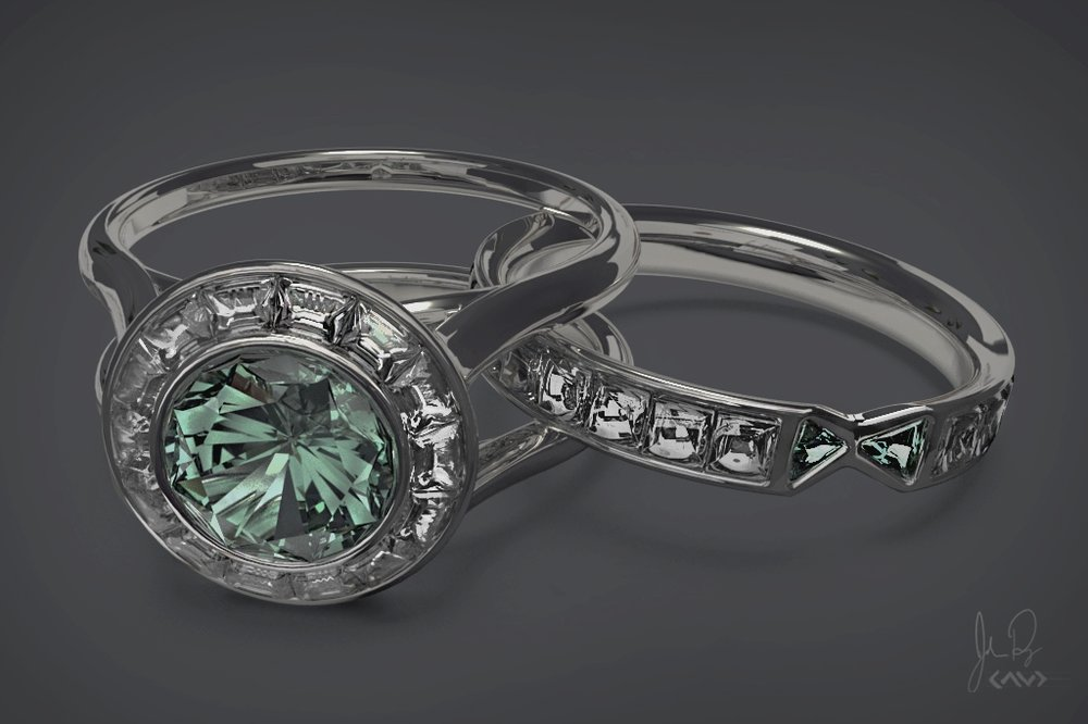 ENGAGMENT WEDDING RING -