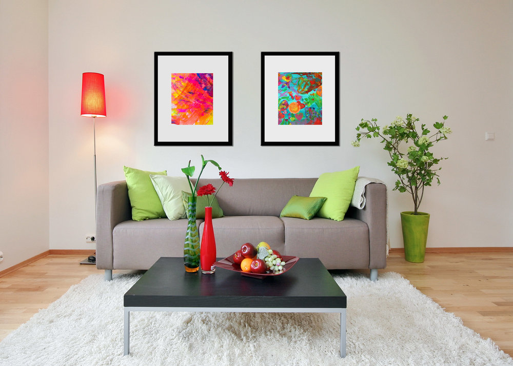 Kids art can be framed as creatively as they are, or in modern frames to match your home style.