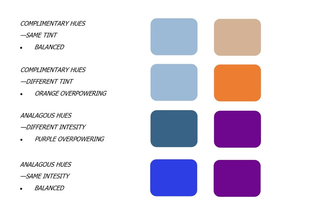 Polychromatic color scheme examples