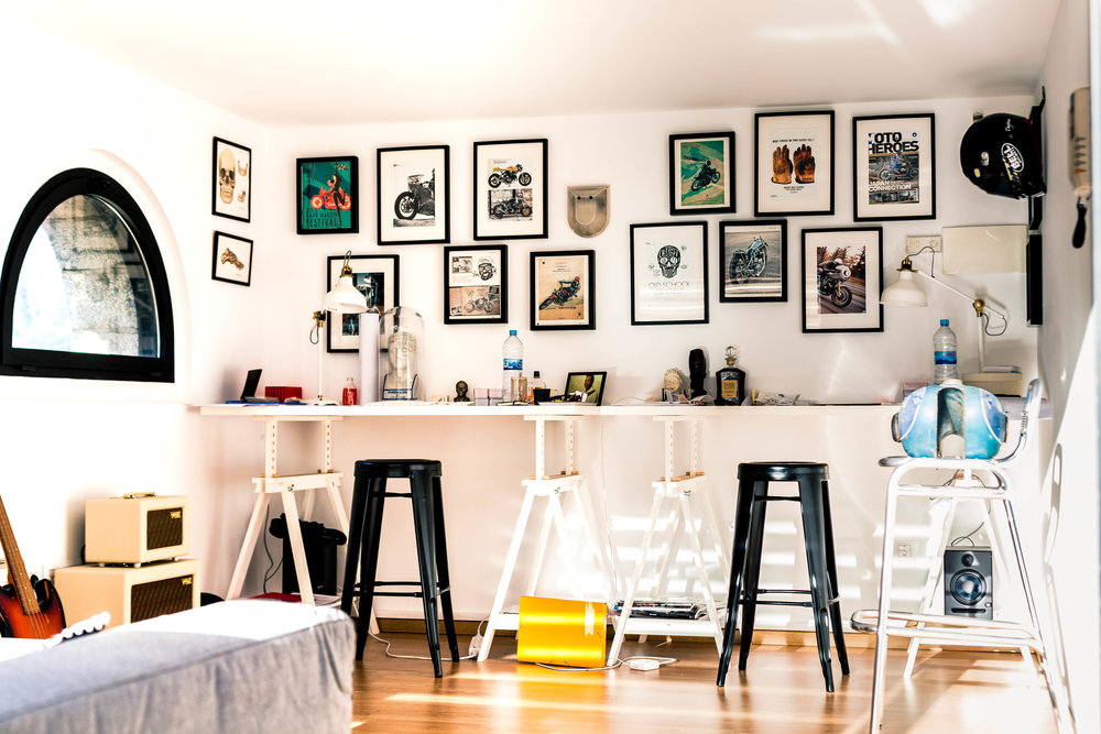 group display - all artwork as a feature wall