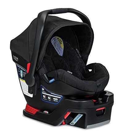 This Britax B Safe (rear facing only) holds 4-35 pounds and detaches from the base.